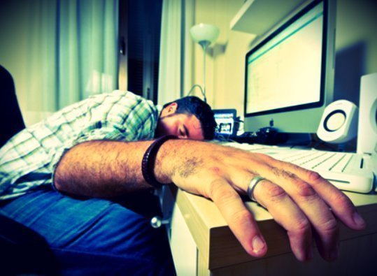 slapen op werkplek